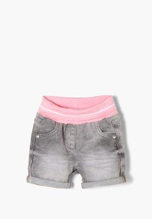 JEANSSHORTS MIT UMSCHLAGBUND - Denim shorts - grey