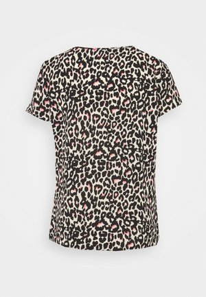 VMSAGA - Print T-shirt - oatmeal/linea