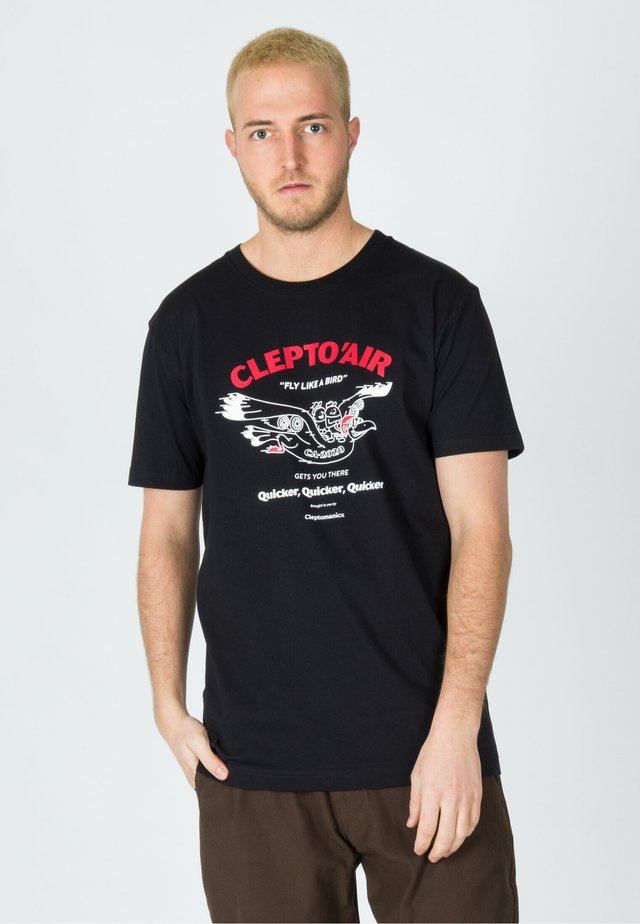 AIR - T-shirt con stampa - black