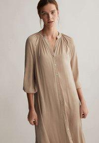OYSHO - Shirt dress - beige - 3