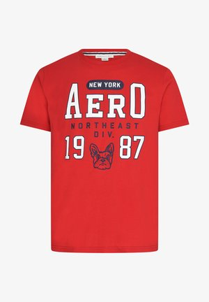 BULLDOG - Print T-shirt - red