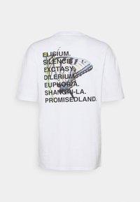 9N1M SENSE - ELISIUM UNISEX - Print T-shirt - white - 9