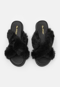 Miss Selfridge - ELLA X STRAP MULE - Klapki - black - 5