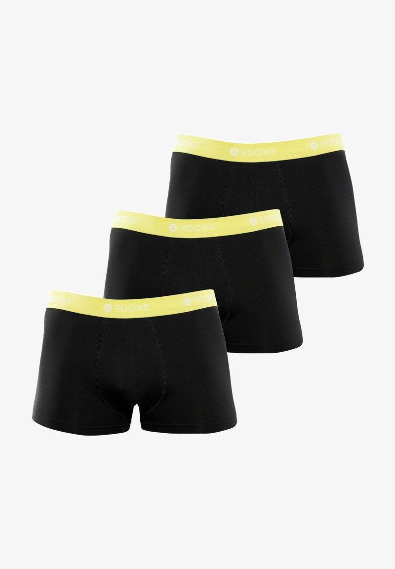 Rooxs - 3 PACK - Pants - schwarz - gelb
