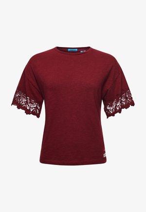 Print T-shirt - deep port