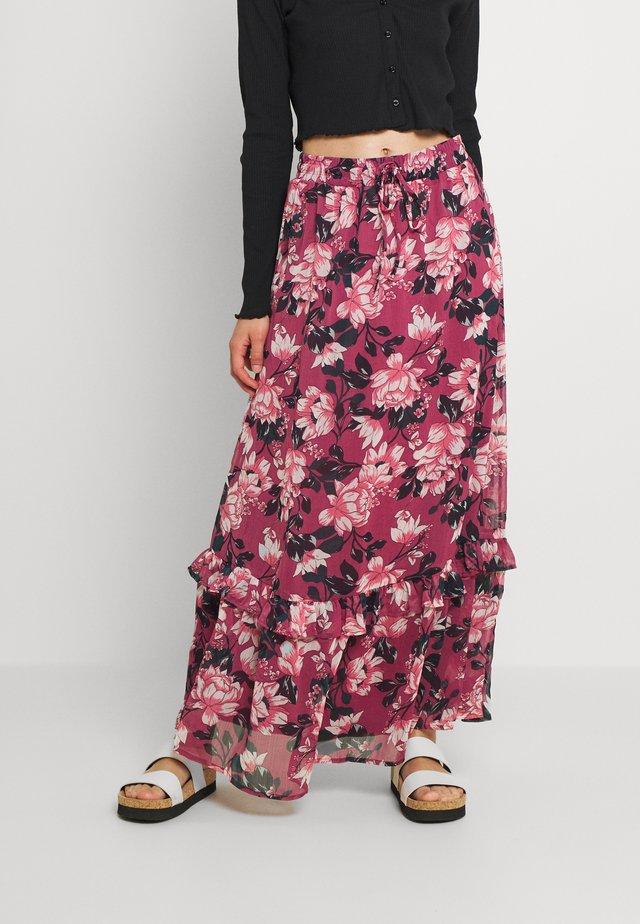 VIFALIA WIDE MAXI SKIRT - Maksihame - pink rose