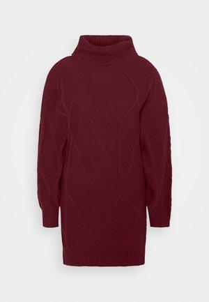 SWEATER DRESS - Jumper dress - burgundy