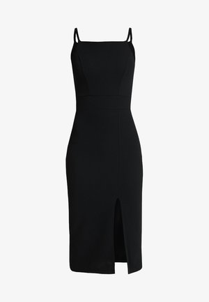 STRAPPY SQUARE NECK MIDI DRESS - Sukienka etui - black