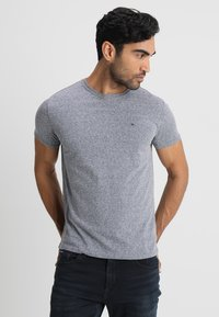 Tommy Jeans - ORIGINAL TRIBLEND REGULAR FIT - T-shirt basique - black iris - 0