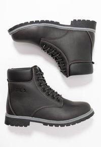 Fila - MAVERICK - Lace-up ankle boots - black - 3