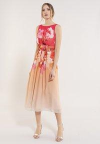 Swing - Day dress - light orange / old rose - 1