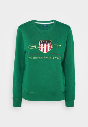 ARCHIVE SHIELD NECK - Sweatshirt - ivy green