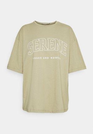 SERENE - Print T-shirt - khaki