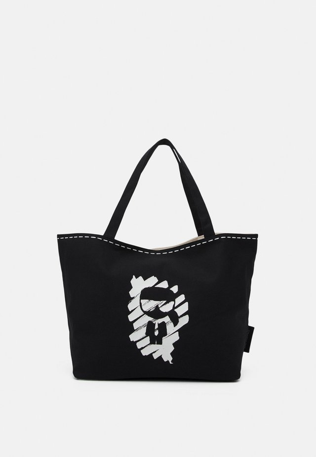 IKONIK GRAFFITI REV TOTE - Bolso shopping - black