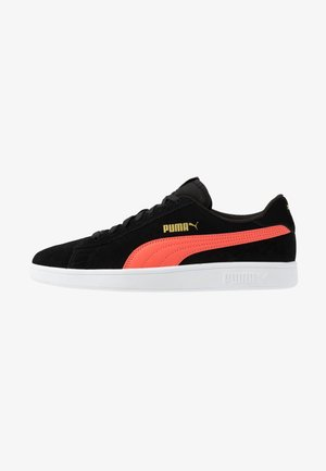 SMASH V2 UNISEX - Trainers - black/hot coral/team gold/white