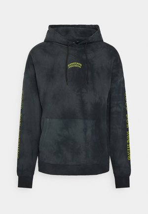 OVERSIZED MULTI TIE DYE HOOD WITH GOTHIC BRANDING - Sweatshirt - grey