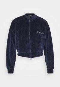 Missguided - ZIP FRONT CROP JACKET - Zip-up hoodie - navy - 3