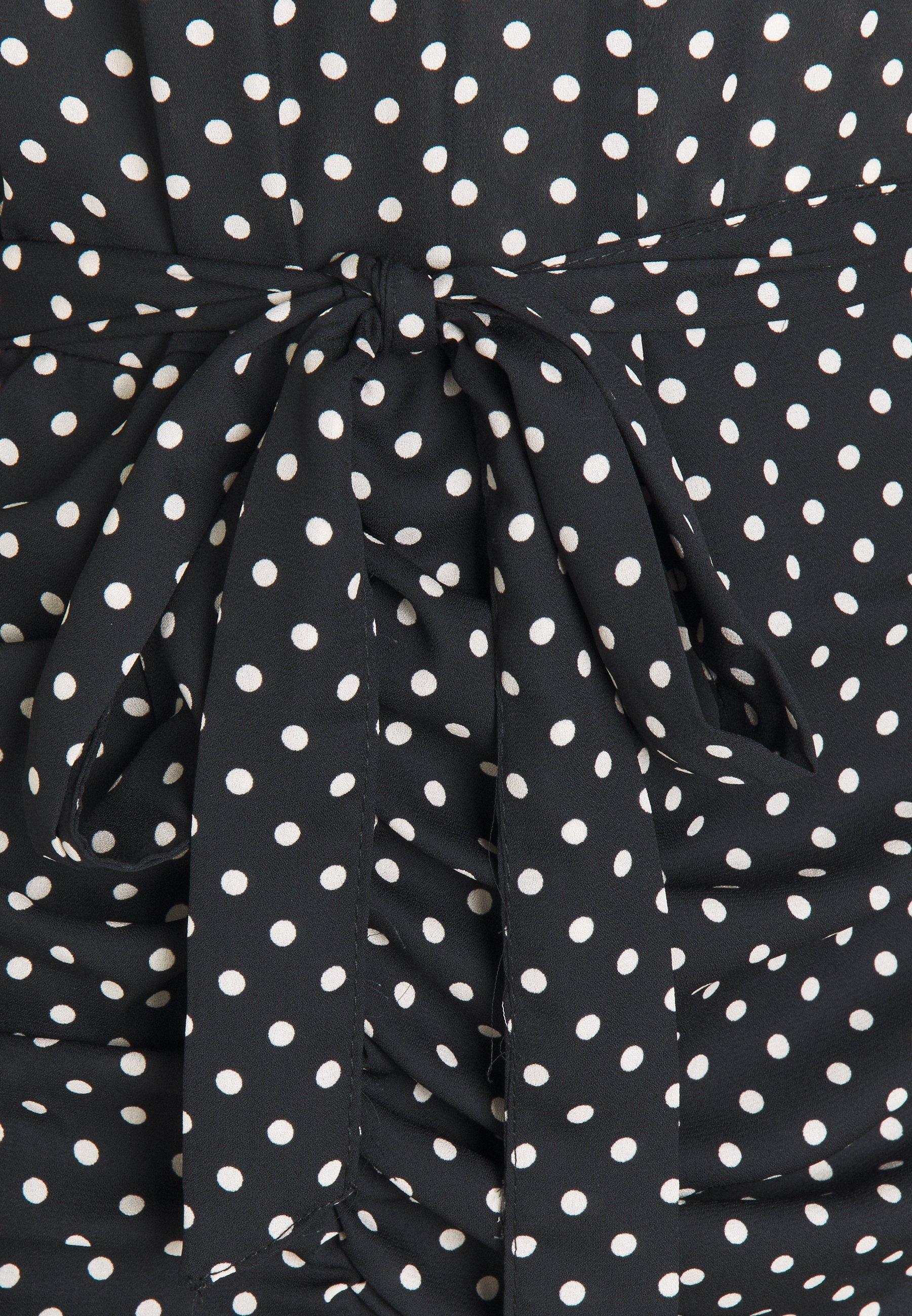 Dorothy Perkins DALMATIAN RUCHED MINI DRESS Freizeitkleid black/mehrfarbig