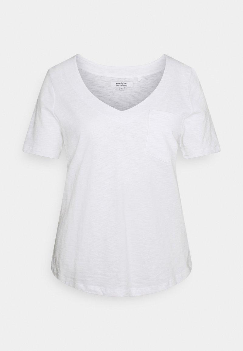 Simply Be - UTILITY - Basic T-shirt - white