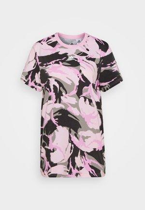 CAMO - Print T-shirt - pink/white