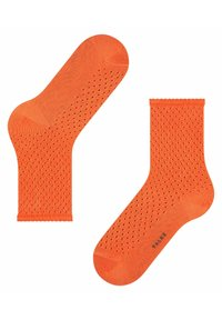 FALKE - POINTELLE - Socks - coral rose - 2