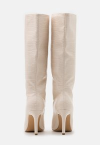 Missguided - CROC MID STILETOE TUBULAR BOOTS - High heeled boots - cream - 3