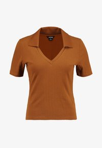 Monki - MARGOT - Basic T-shirt - rust - 4