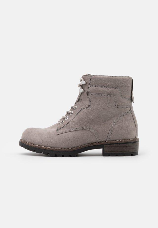 Šněrovací kotníkové boty - light grey