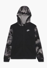 Nike Sportswear - CLUB - Zip-up hoodie - black/white - 0