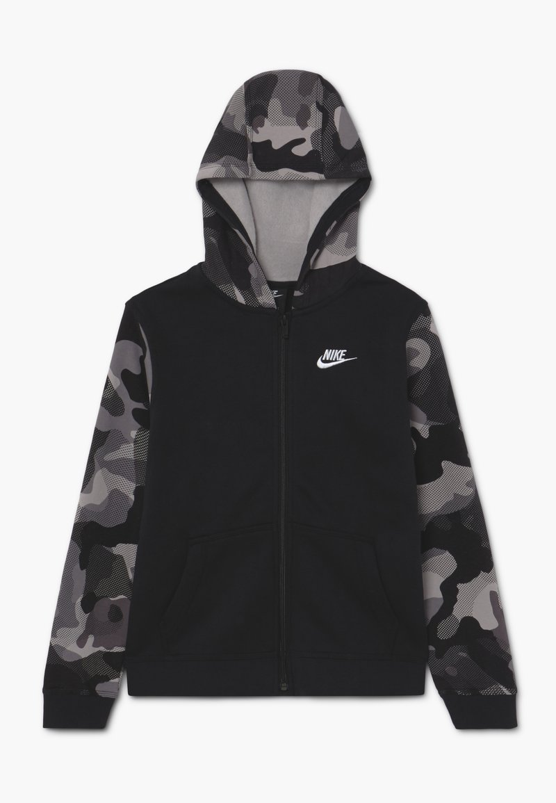Nike Sportswear - CLUB - Hoodie met rits - black/white