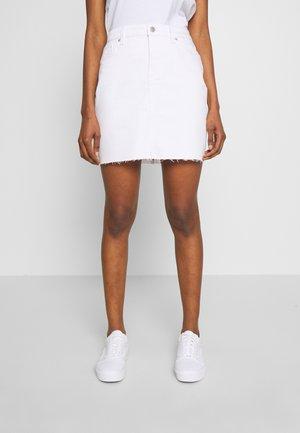 ROCK KURZ - Denim skirt - white