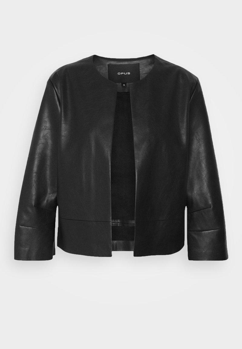 Opus - JATRI - Faux leather jacket - black