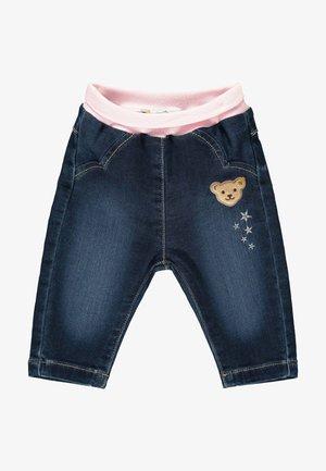 MIT SÜSSEN STICKEREIEN - Relaxed fit jeans - mood indigo