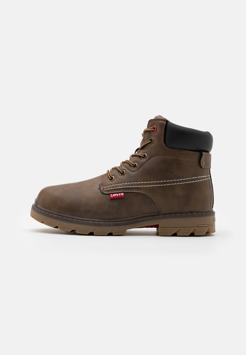 Levi's® - NEW FORREST MID - Lace-up ankle boots - brown/black