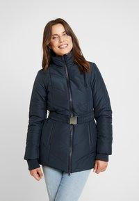 LOVE2WAIT - COAT DOUBLE ZIPPER PADDED - Winter jacket - navy - 3