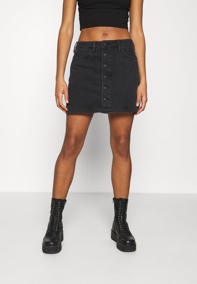 A-LINE SKIRT - Mini skirt - black blaze