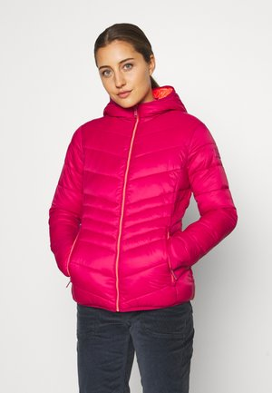 WOMAN JACKET FIX HOOD - Zimní bunda - magenta