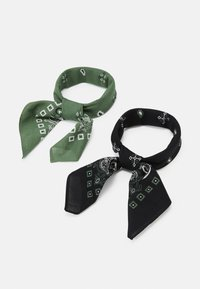 Pier One - BANDANA 2 PACK - Skjerf - black/olive - 0