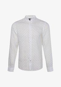 WE Fashion - WE FASHION HERREN-SLIM-FIT-HEMD AUS LEINEN - Camicia - white/blue - 4