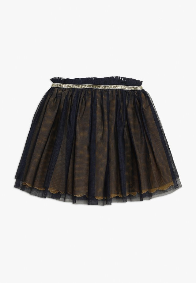 SKIRT - Plooirok - midnight blue