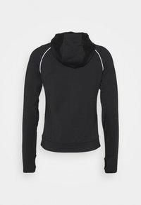 Even&Odd active - ZIP THROUGH HOODIE WITH REFLECTIVE DETAILS - Fleece jacket - black - 1