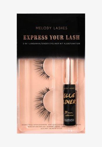 EXPRESS YOUR LASH - GLUE LINER & GISELLE LASHES - False eyelashes - black