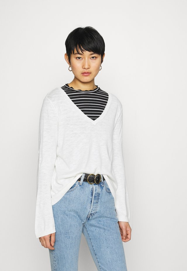 FLARED SLEEVED KNIT - Maglione - snow white