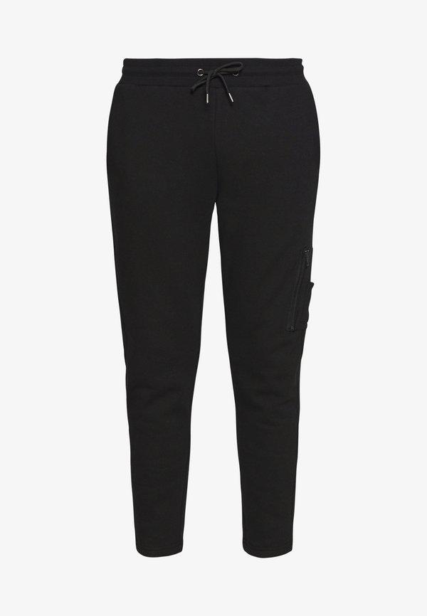 Zign JOGGER - Spodnie treningowe - black/czarny Odzież Męska DQHI
