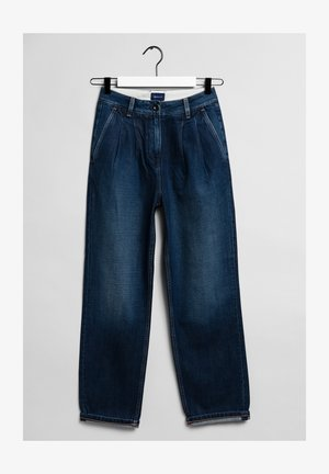 Relaxed fit jeans - dark blue worn in
