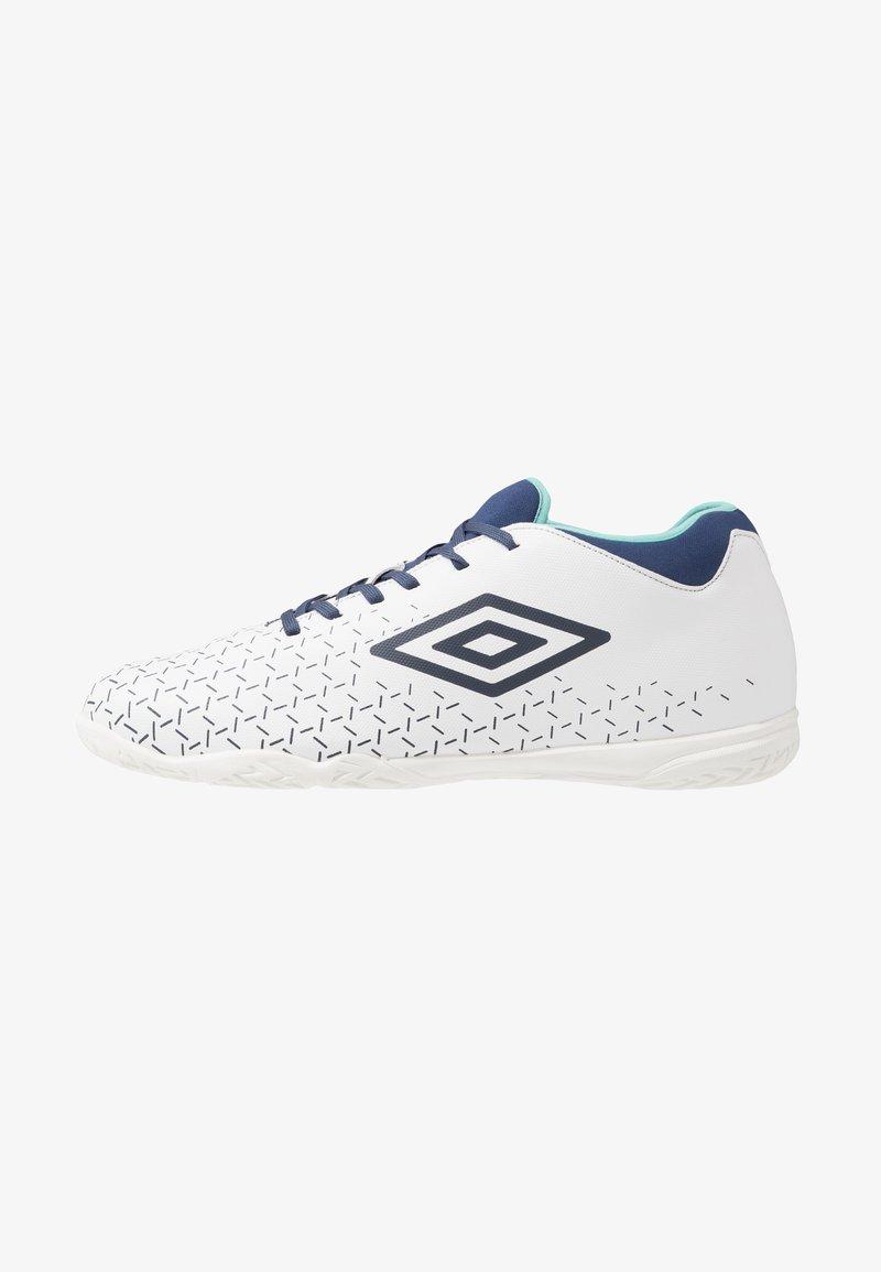 Umbro - VELOCITA V CLUB IC - Indoor football boots - white/medieval blue/blue radiance