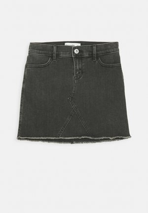 SKIRT - Denim skirt - washed black
