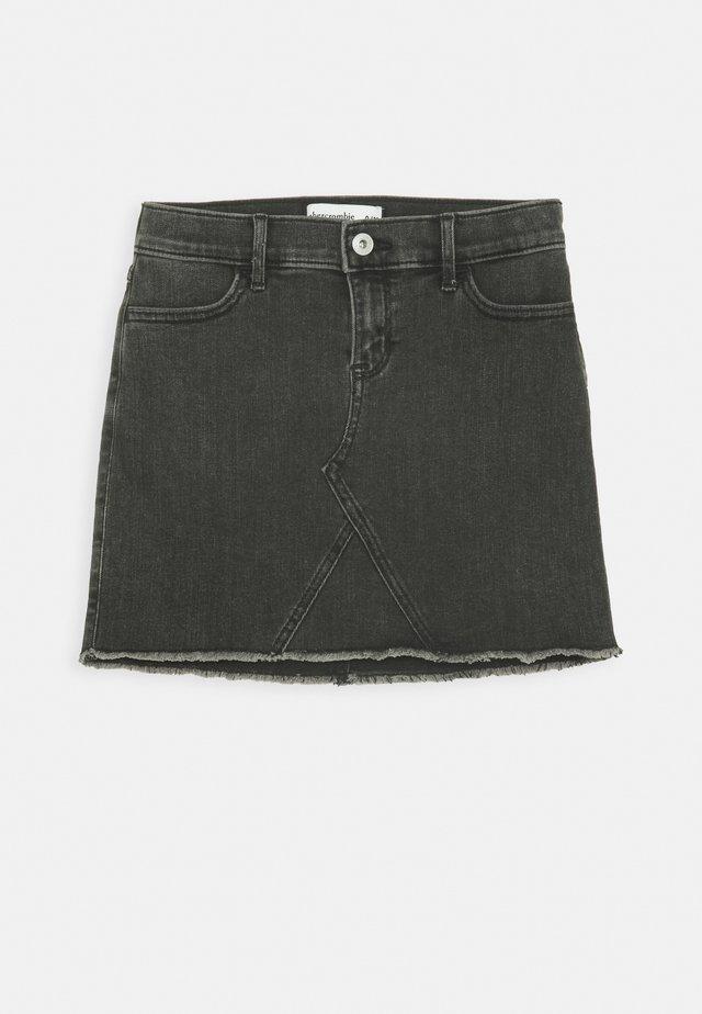 SKIRT - Denim skirt - washed black