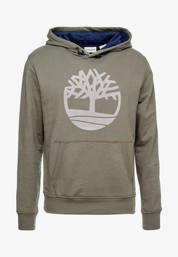 Timberland TREE LOGO - Bluza z kapturem - grape leaf/oliwkowy melanż Odzież Męska RZOI