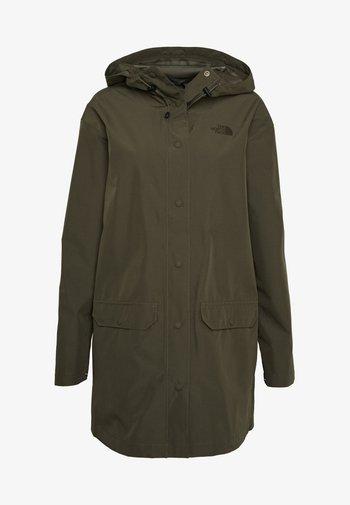 WOMENS WOODMONT RAIN JACKET - Hardshell jacket - new taupe green